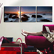 Stretched Canvas Print Art Landscape Reef Set of 3