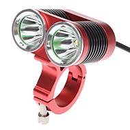 Bike Light , Front Bike Light / Bike Lights - 4 Mode 2400 Lumens Rechargeable 18650 Battery Cycling/Bike Red Bike DARK KNIGHT K2C