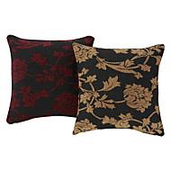 """18 """"Squard Tjock Woven Flower Chenille Polyester Dekorativa Kuddfodral"""