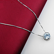 Zilver/Platina/Sterling Silver Dames KettingenJublieum/Bruiloft/Verloving/Verjaardag/Geschenk/Feest/Dagelijks/Speciale
