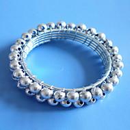 Or Argent Perles Rond de Serviette Set de 12, acrylique, Dia 4.5cm