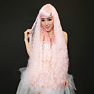 38.55 Inch 100% Kanekalon Extra Long Pink Christmas Festival Party Wig
