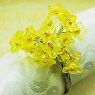 פרח אשכולות חתונת מפיות טבעת, 4.5cm אקריליק Dia