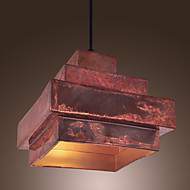 40W Retro závěsné svítidlo se rusty metal Shade
