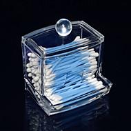 acrílico transparente gaveta gaveta swab de armazenamento caixa de cosméticos em forma de cosméticos organizador