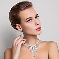 de haute qualité en alliage tchèque strass mariage bijoux de mariée plaqués ensemble, y compris le collier et boucles d'oreilles