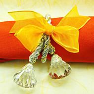Bowknot Svatební ubrousky prsten, Akryl Dia 4,5 cm