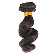 "12"" 100% Human Hair Loose Wave Natural Black Hair Extension"