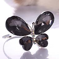 Black / Transparent Alloy Napkin Ring