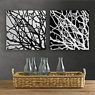 Stretched Canvas Print Art Abstract Branches Set of 2
