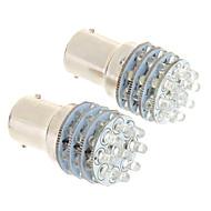 Ba15S / 1156 36-Ledede 100-200Lm 6000K Kjølig Hvitt Lys Led Pære For Bil (12V, 2 Stk)