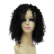 Charmante 100% Human Remy Haar Kort zwart krullend haarkant
