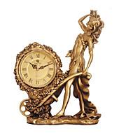 """16 """"H Estilo Europeu Resina Tabletop Relógio"""