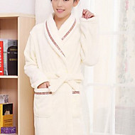 Bath Robe Beige,Solid High Quality 100% Polyester Towel