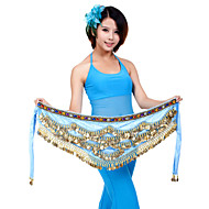Belly Dance Belt Women's Training Polyester Coins 1 Piece Hip Scarf
