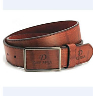 Men's New Fashion Metal Buckle Faux Leather Belt (4 Colors)