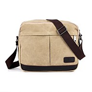 Unisex Canvas Casual Shoulder Bag Green / Yellow / Brown / Black