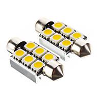 Гирлянда 1.4W 6x5050SMD 100LM 3000K теплый белый свет Светодиодные лампы для автомобилей (12V, 2 шт)