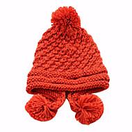 Pure Color hiver Bonnet de laine des femmes (52-58cm)