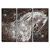 Hand Painted Oil Painting Animal Shining Horse with Stretched Frame Set of 3