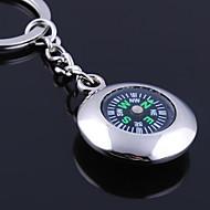 Személyre szabott gravírozott ajándéktárgyak Round Compass alakú kulcstartó