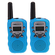 "Par de T-388 Lovers Hablar Mini 8KM mano Screen 1 ""LCD walkie talkie radio de dos vías con la linterna"
