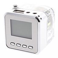 TT-028 Mini Multifunction Speaker with FM Radio,TF Card Reader,Clock Function(Transparent)