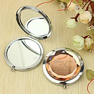 Personlig gave evigt elsker Mønster Chrome kompakt spejl