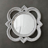 "16.25""H Country Style Retro Wall Mirror"