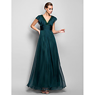 Formal Evening/Military Ball Dress - Jade Plus Sizes A-line V-neck Floor-length Chiffon