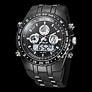 Men's Watch Military Water Resistant Dual Time Zones Analog Digital Watch Calendar LCD Alarm Multi-Function Wrist Watch Cool Watch With Watch Box