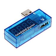 jännitteen ja virran ilmaisin USB-portti (läpikuultava sininen)