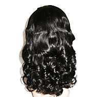 18inch Middle Part Wavy Brazilian Remy Human Hair Front Lace Wig for Black Women