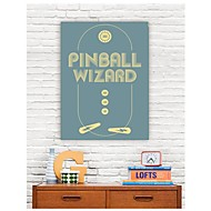 Stretched Canvas Art Words Pinball Wizard