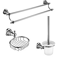 3 Pcs Bathroom Accessory Sets,Zinc Alloy, Stainless Steel, Brass Material Chrome Finish,Bath Accessories