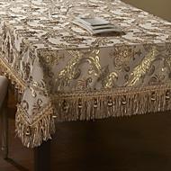 concise de broderie de dentelle d'or table de polyester beige tissu