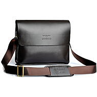 Men PU / Cowhide Casual Shoulder Bag Brown / Black