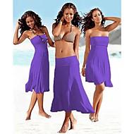 Women's White/Black/Blue Strapless Summer Beach Sexy Dress
