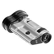 Alta Qualidade 20X-40X ajustável Zoom Magnifier LED Microscópio com com escala e base