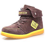 dw Kinder Samt High-Top Sneaker Mode warme Schnee Knöchel Jungen Stiefel (braun)