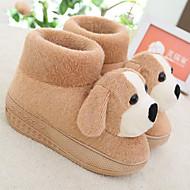 Ihana Cartoon Coffee Dog Wool Naisten Slide Slipper
