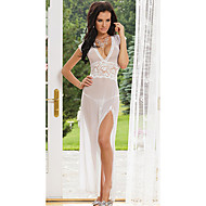 Charming Girl Pure White Mesh Transparent Women's Lingerie Sexy Uniform