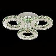 Umei ™ levou cristal montagem embutida, 3 luzes, moderno aço inoxidável transparente galvanoplastia