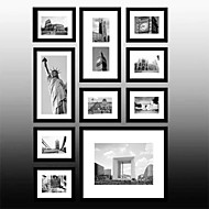 Black New York Photo Wall Frame Collection Set of 10
