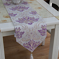 1 Violet Coton mélangé Rectangulaire Chemins de table