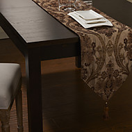 or de style chenille Jacqard polyester / coton chemins de table poly-soie européennes
