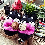 Sarjakuva Black Cat Wool Naisten Slide Slipper