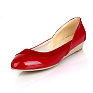 Women's Spring Summer Fall Winter Comfort Ballerina Leatherette Office & Career Casual Flat Heel Black Red