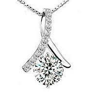 Elegant Tassel Women's Slivery Alloy Necklace(1 Pc)