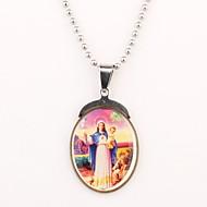 Personalizované dárky a Silver Christian Pattern Ryté náhrdelník